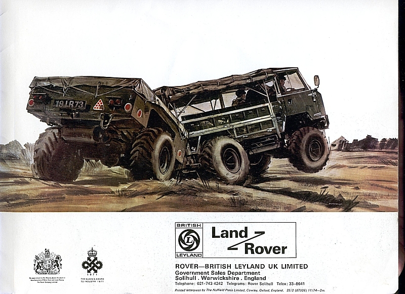 Imcdb Org 1975 Land Rover 101 Fc 1 Ton Gs 4x4 In Quot To Walk