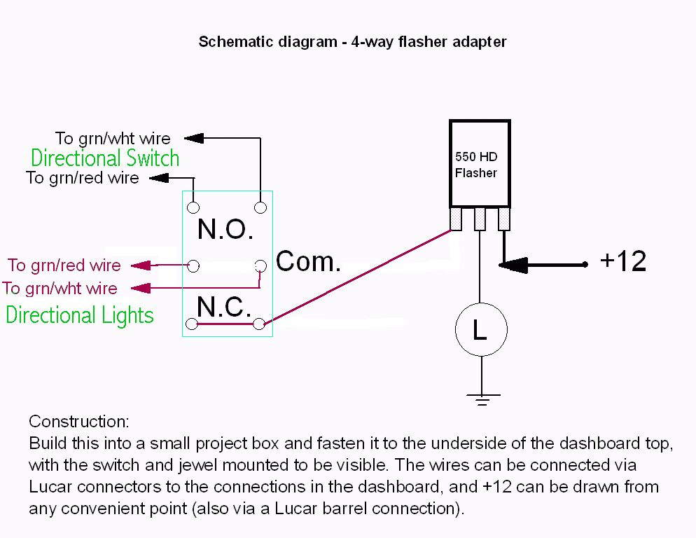 four way flasher adaptor wiring diagram