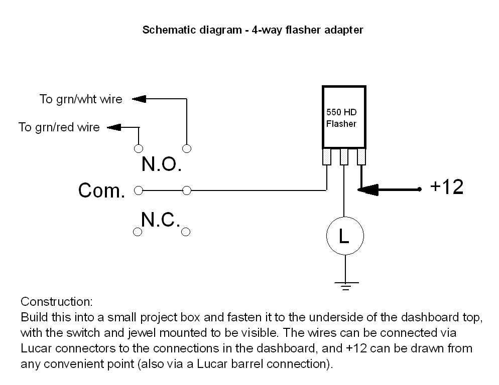 2 prong flasher wiring diagram simple flasher wiring diagram #8