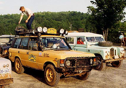 Camel Trophy paricipant Fred Monses with Dan Floyd & Tom Collins' Camel Trophy Range Rover